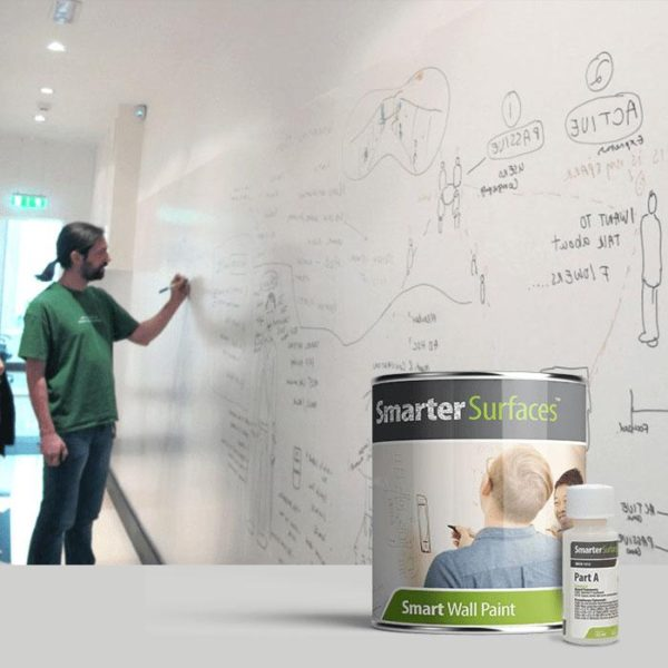 pisanie mazakiem po ścianie z farbą suchościeralną